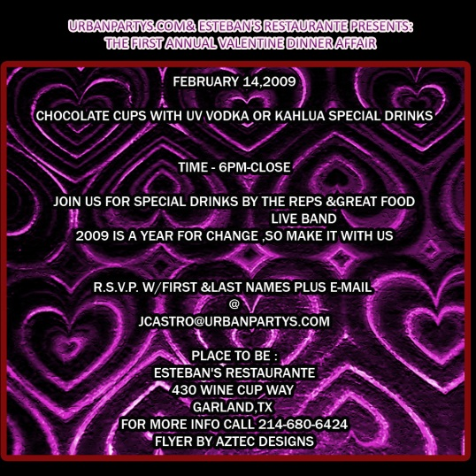FIRST ANNUAL VALENTINE DINNER AFFAIR FEB14TH