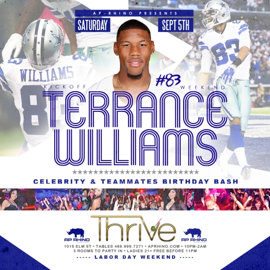 TERRANCE WILLIAMS BDAY
